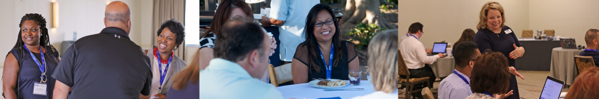Attendees networking at ICMI Training Symposiums