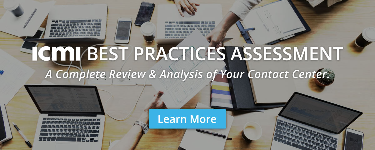 ICMI Contact Center Best Practices Assessment