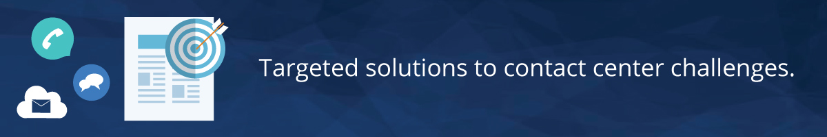 Contact center consulting solutions banner - ICMI