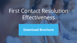First contact resolution effectiveness