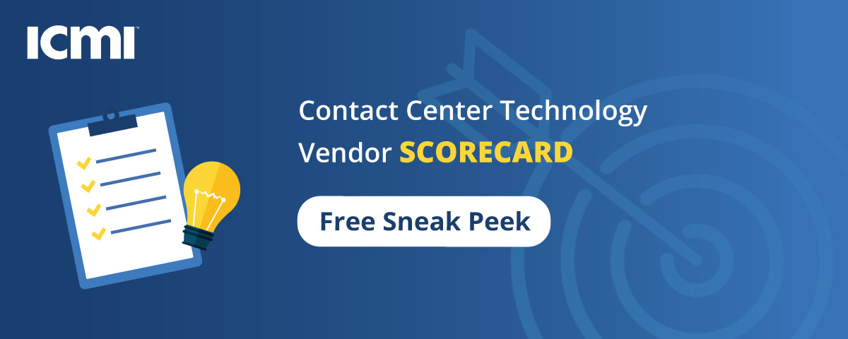 Technology Vendor Scorecard