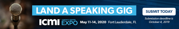 Contact Center Expo 2020 Call for Speakers
