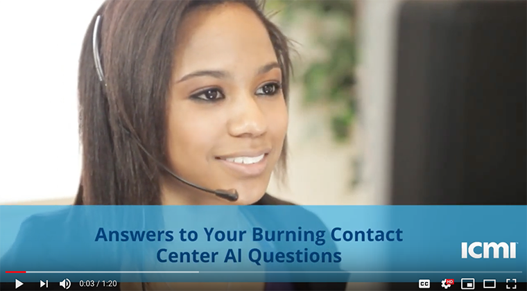 Ai for the contact center