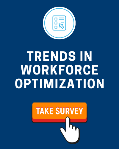 Illustrated invite to take the Trends in Workforce Optimization survey