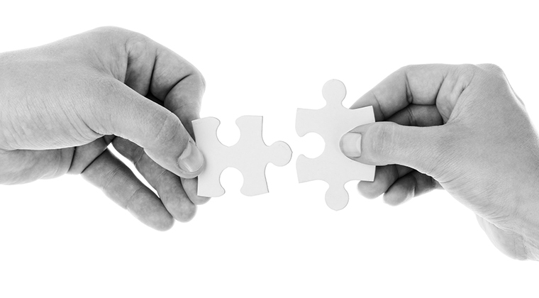 Image depicting connection between two puzzle pieces
