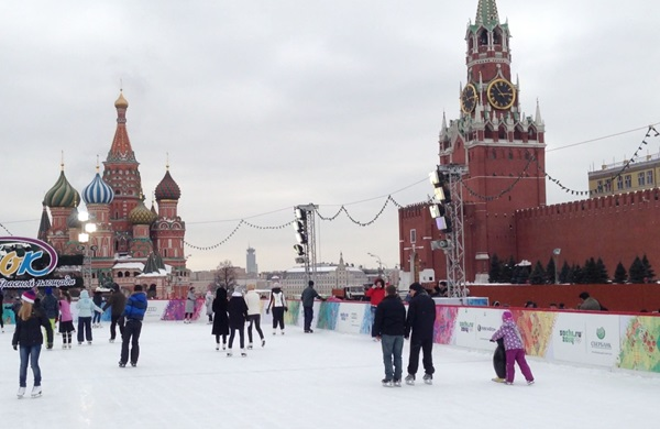 Ice Skating Rink in Red Sqaure in Moscow