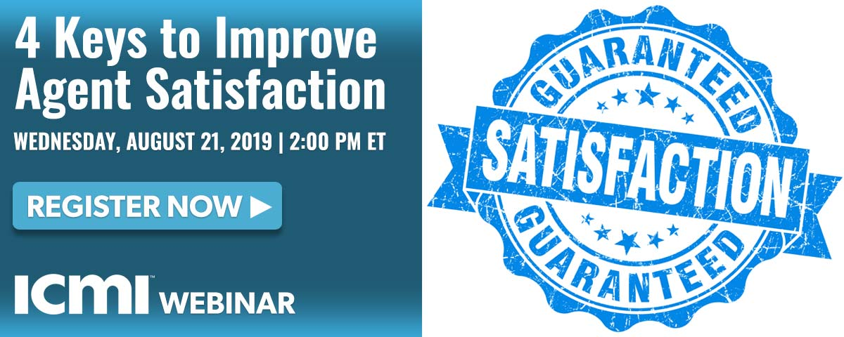 ICMI Webinar 4 Keys to Improve Agent Satisfaction
