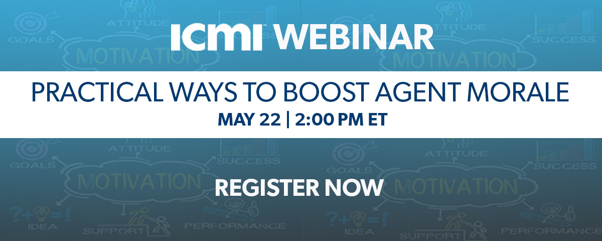 ICMI Webinar Boosting Agent Morale