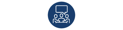 client site contact center training icon