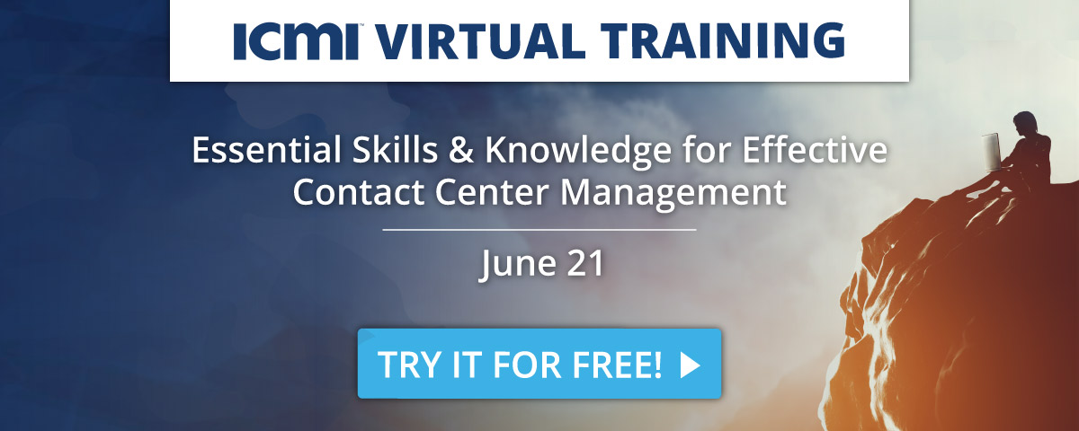 Free Trial for ICMI's Live Virtual Training