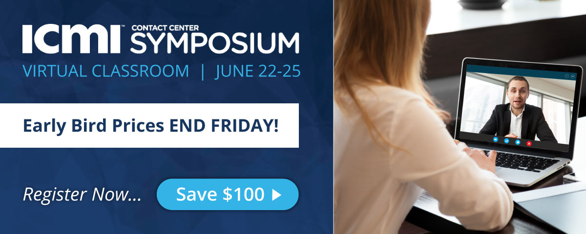 ICMI Virtual Training Symposium Early Bird Pricing ends Friday