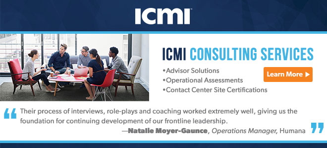 ICMI contact center consulting services banner