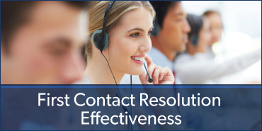 ICMI Contact Center Consulting Advisor Solutions - First contact Resolution Effectiveness