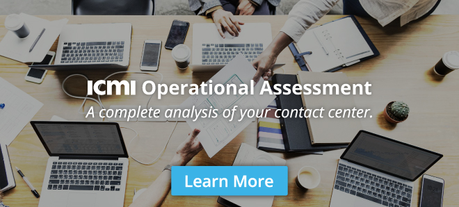 ICMI Contact Center Operational Assessment