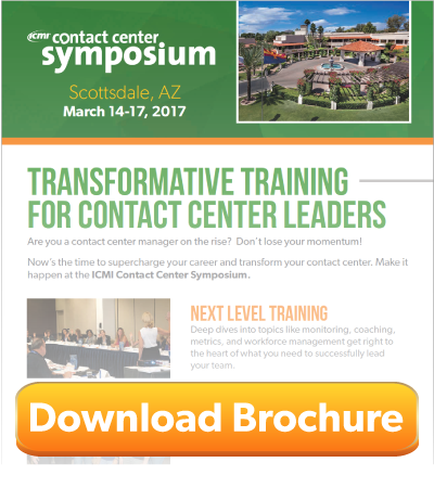 ICMI Call Center Training symposium scottsdale download