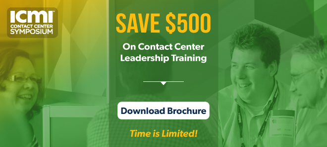 Save $500 on ICMI Contact Center Symposium - Time is limited!