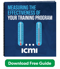 Measuring the effectiveness of your training program - free guide from ICMI training