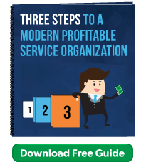 Three steps to a modern profitable service organization - free guide from ICMI Training