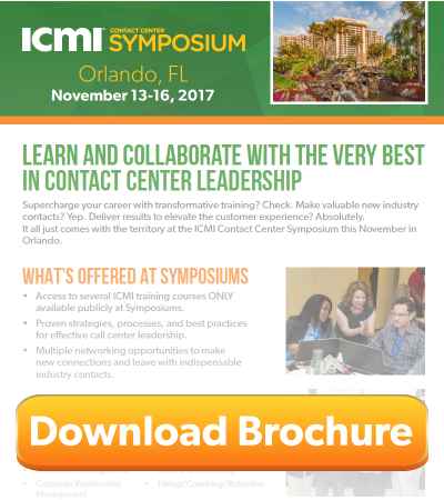 Download the ICMI Contact Center Symposium Brochure for Orlando 2017