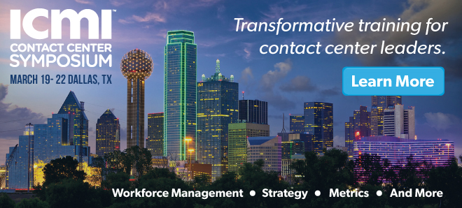 ICMI Contact Center Training Symposium in Dallas