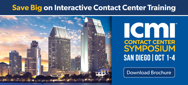 Save on Interactive Contact Center Training - download brochure - image of San Diego