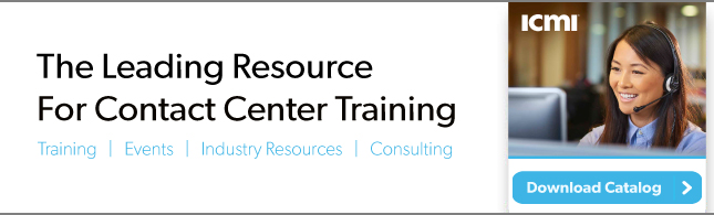 ICMI 2017 Contact Center Training Catalog